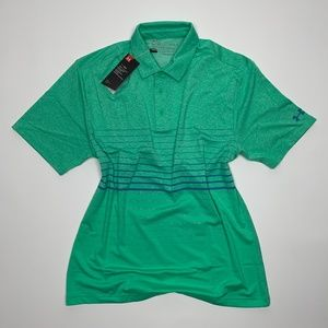 Under Armour Playoff 2.0 Premier Green Polo Shirt